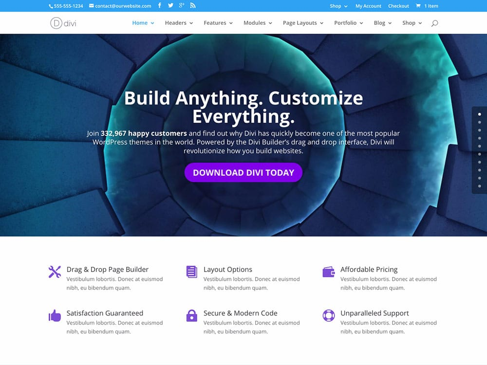 Divi-6 - 60+ Nice WordPress Themes For Business [year]