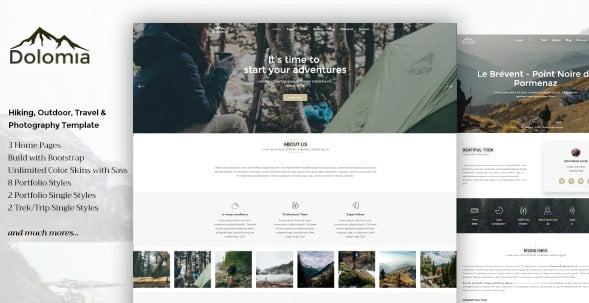 Dolomia - 35+ Nice Hunting and Weapon For WordPress Themes [year]