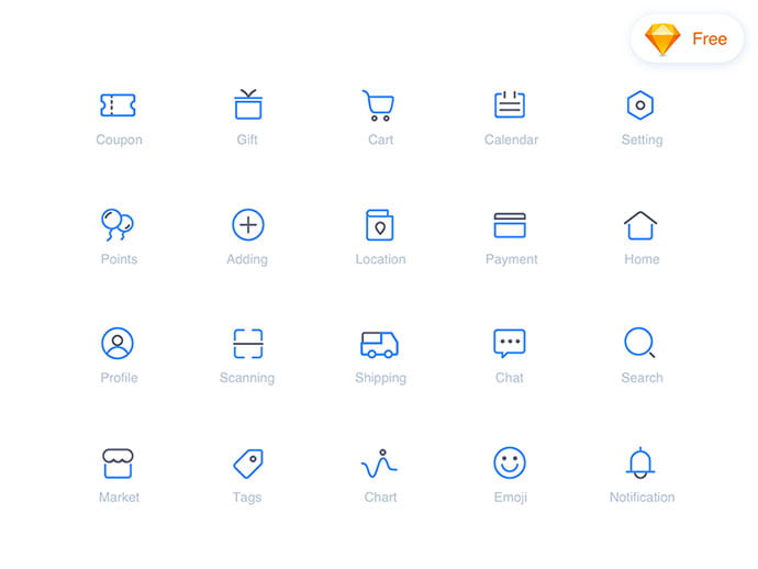 E-Commerce-icon-set - 35+ Awesome Free E-Commerce Icon Sets [year]