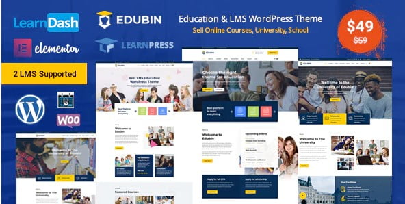 Edubin - 36+ Awesome WordPress Themes e-Learning [year]