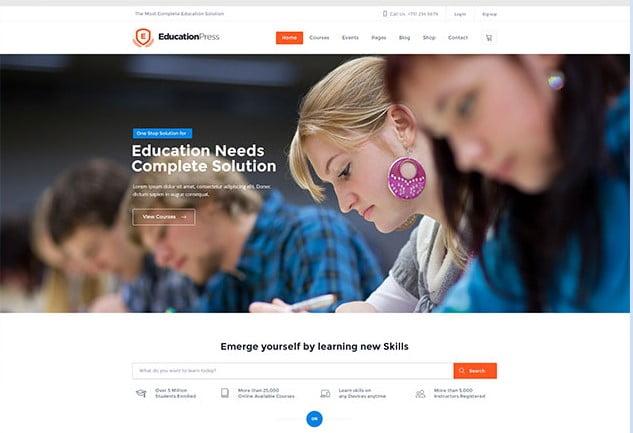 EducationPress - 36+ Awesome WordPress Themes e-Learning [year]