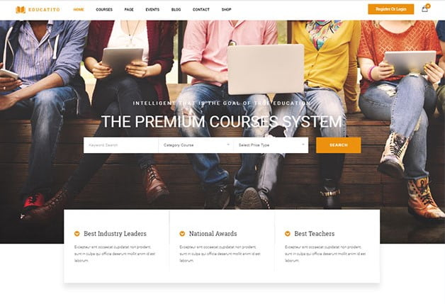 Educatito - 36+ Awesome WordPress Themes e-Learning [year]