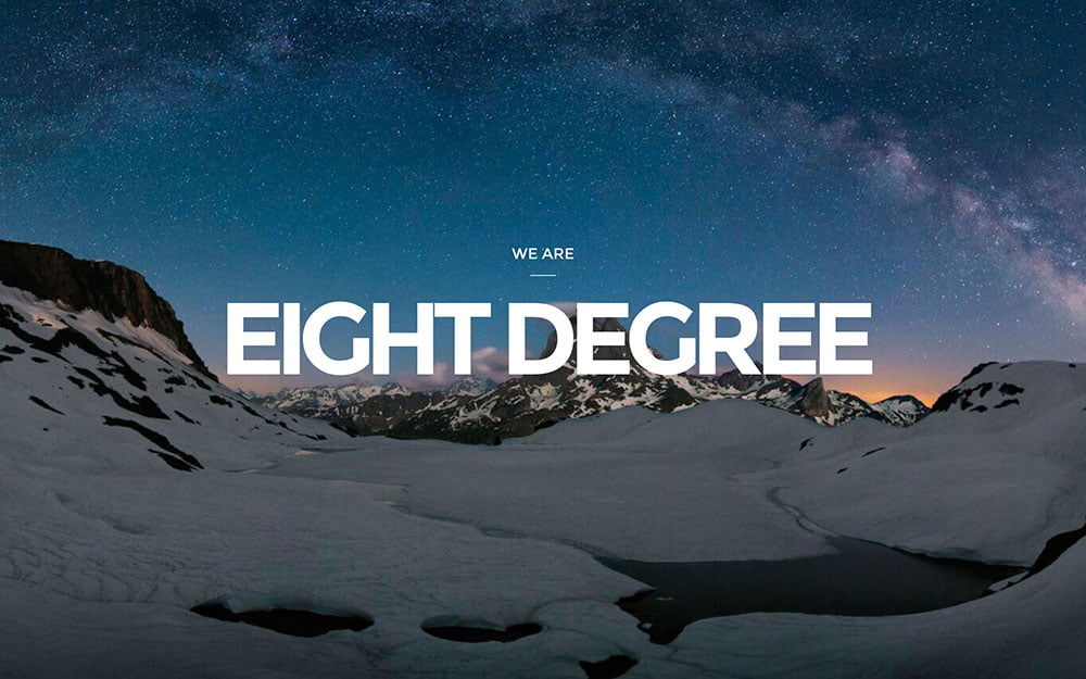 Eight-Degree - 41+ Amazing WordPress Parallax Themes For You [year]