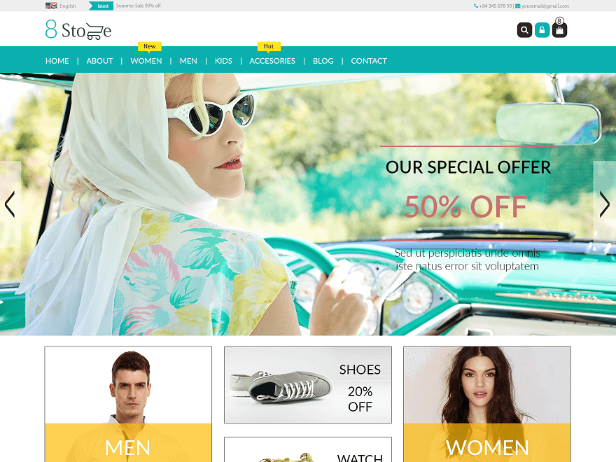 EightStore-Lite - 51+ Awesome Free WordPress Themes For Ecommerce [year]