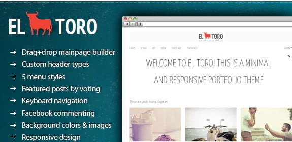 El-Toro - 36+ Awesome WordPress Content Sharing Themes [year]