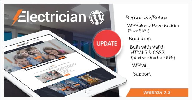 Electrician - 36+ Amazing Electricians WordPress Themes [year]