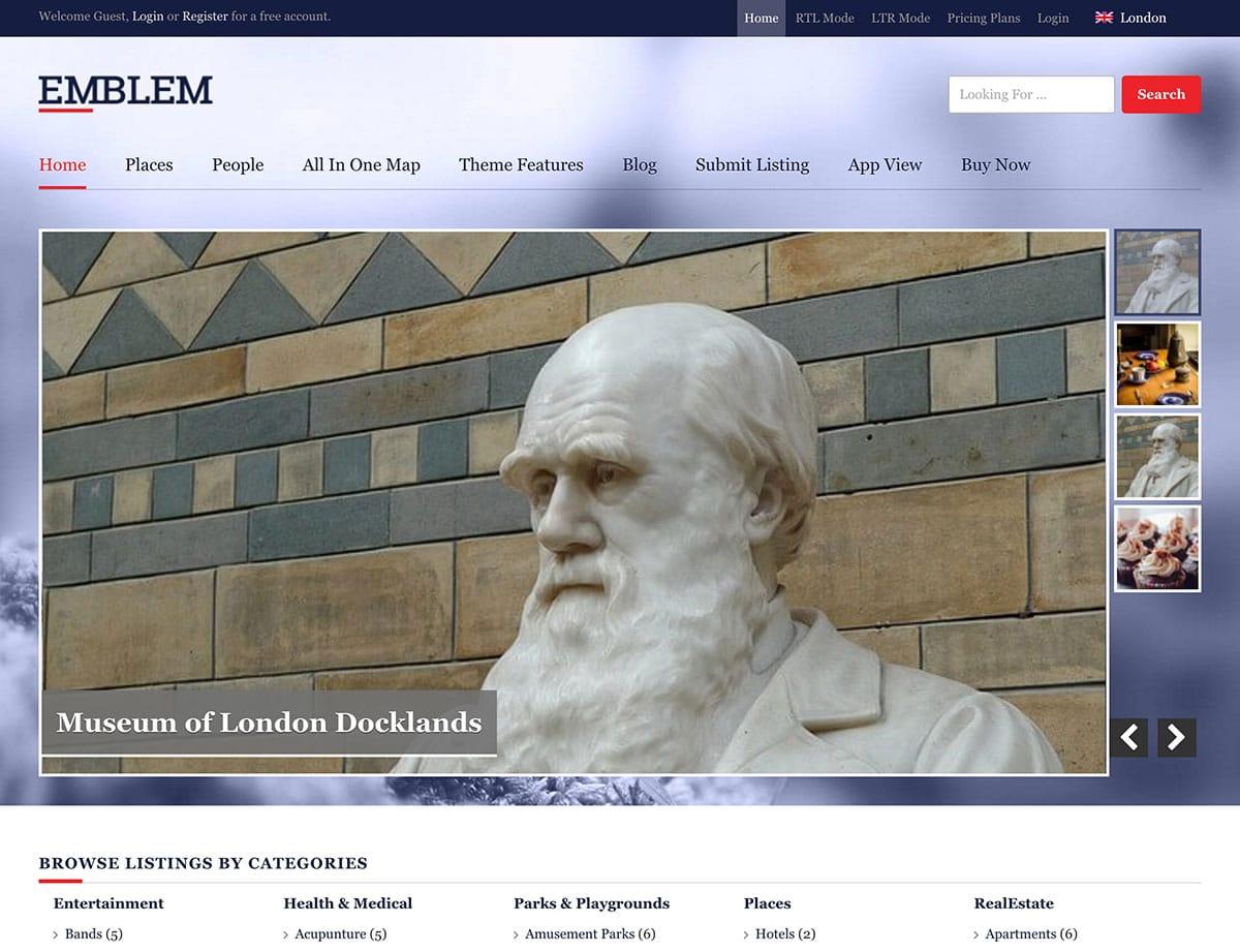 Emblem - 46+ Stunning WordPress Directory Themes [year]