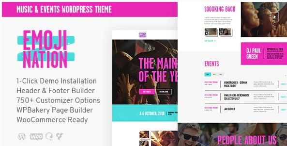 EmojiNation - 35+ Nice WordPress Themes For Nightclub [year]