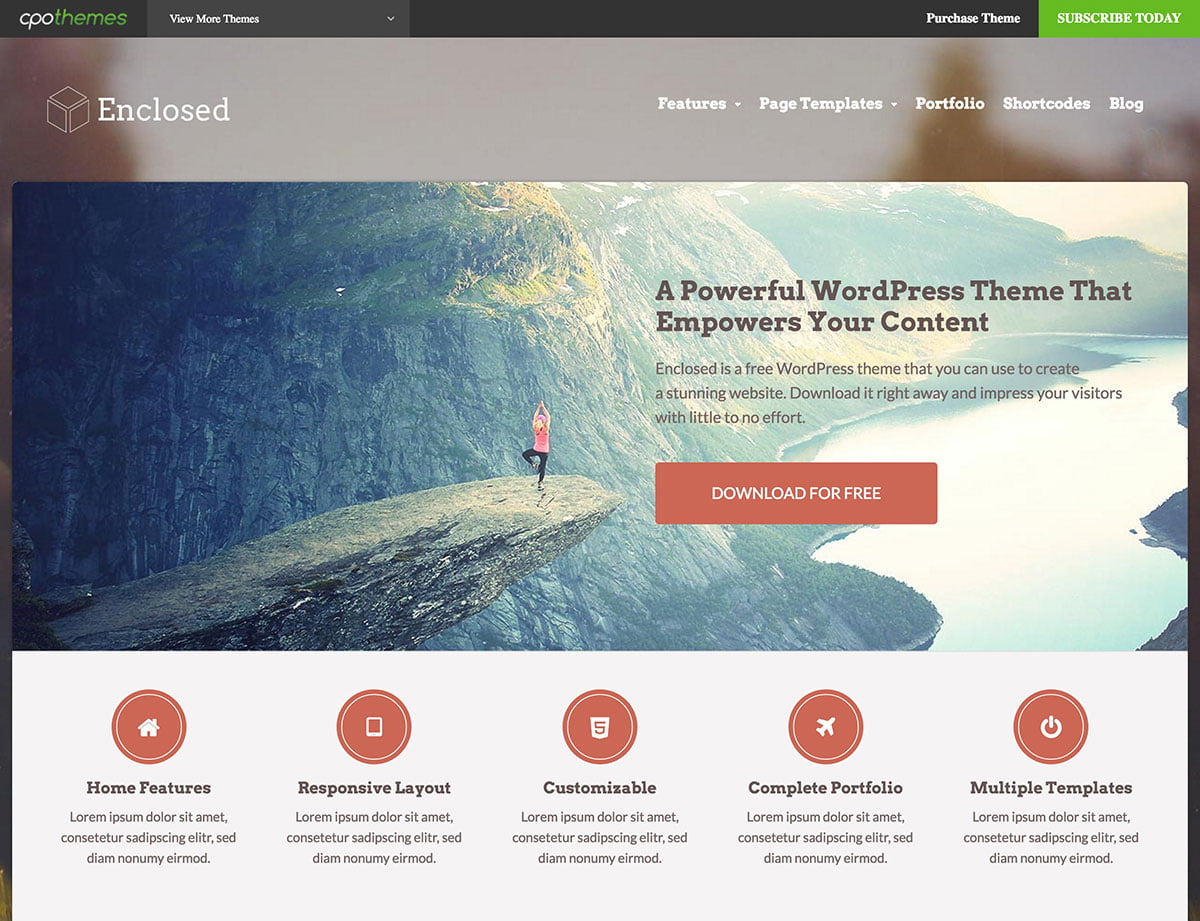 Enclosed - 46+ Nice Free WordPress Portfolio Themes [year]