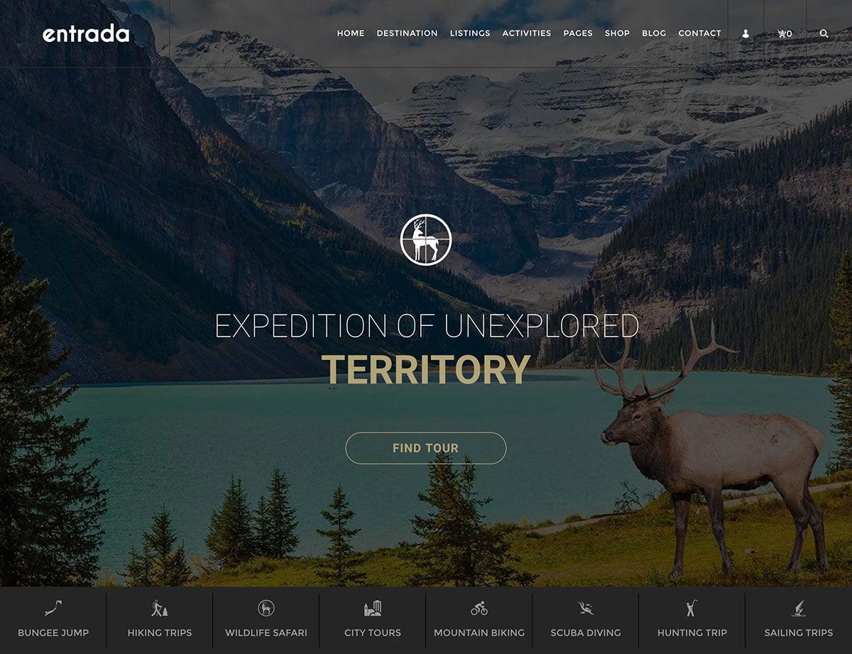 Entrada - 36+ Amazing Travel, Agencies, Hotels WordPress Themes [year]