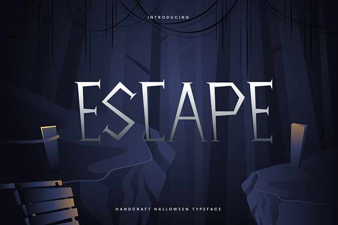 Escape - 31+ Amazing Game Title Fonts For Developer [year]