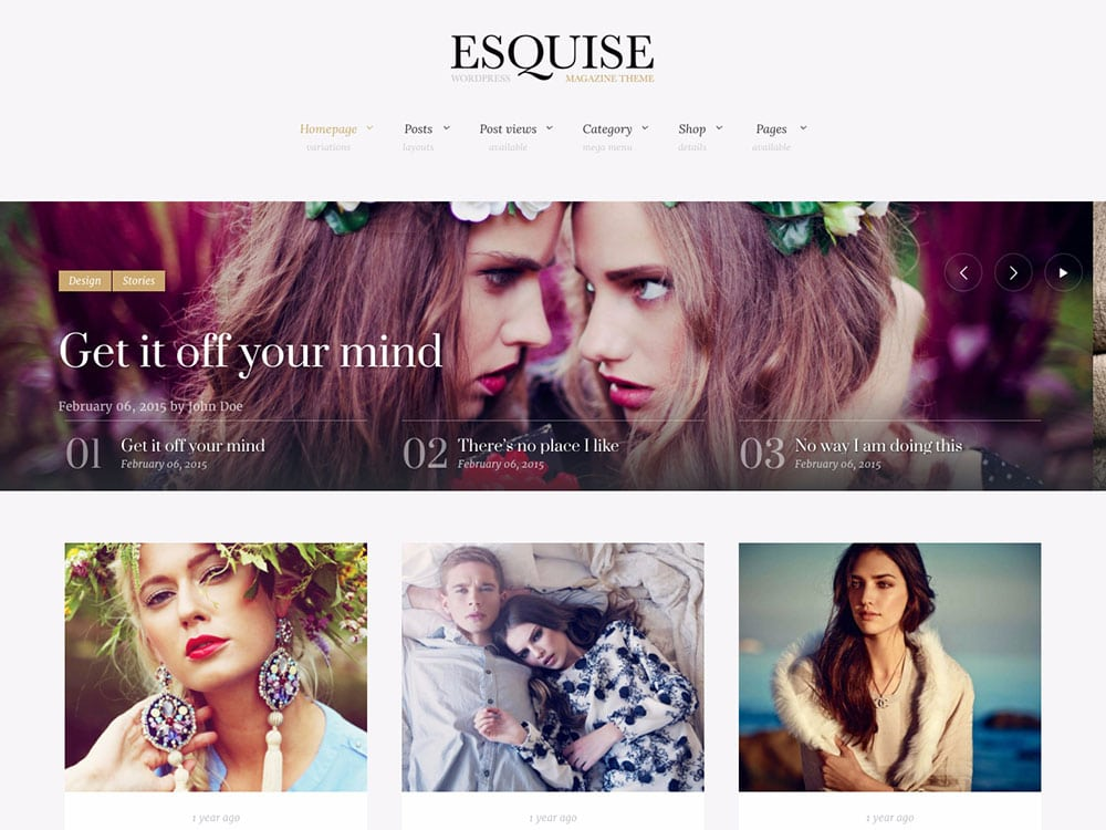 Esquise - 36+ Nice WordPress Themes For Fashion Blog [year]