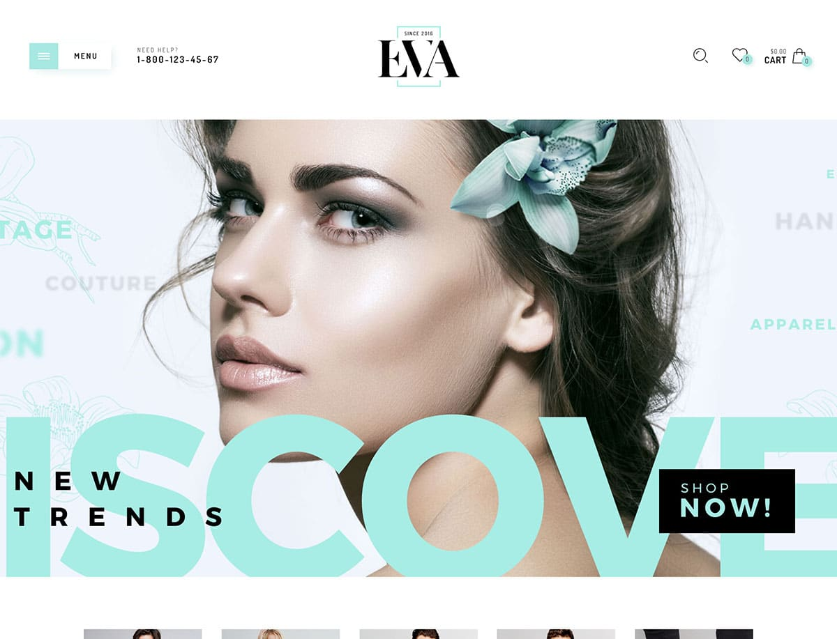 Eva - 41+ Top WordPress Themes For Woocommerce [year]