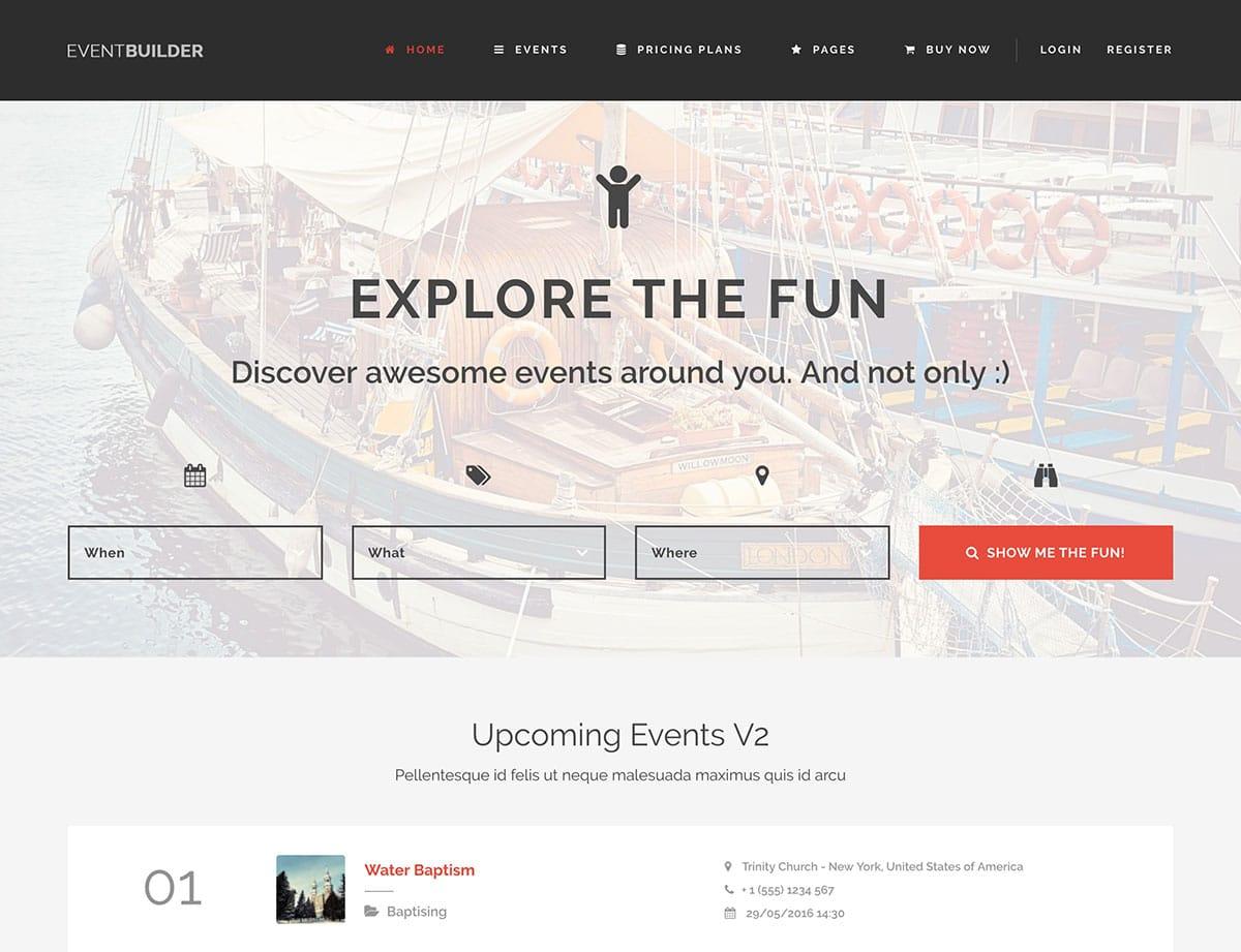 EventBuilder - 46+ Stunning WordPress Directory Themes [year]