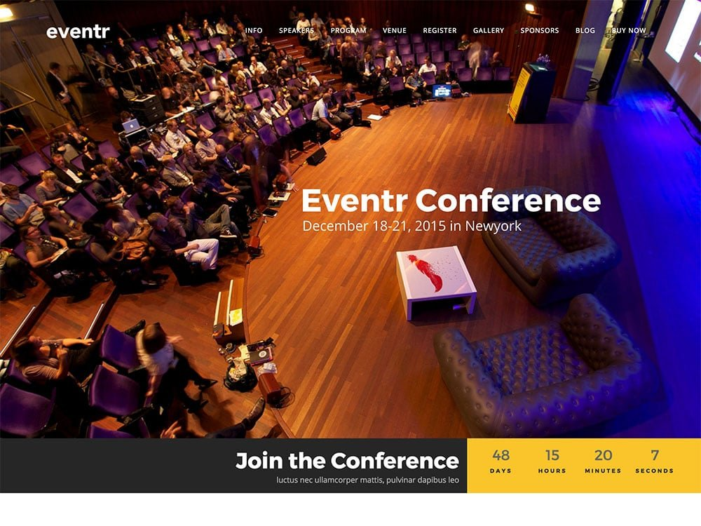 Eventr - 40+ Amazing WordPress Themes For Events [year]