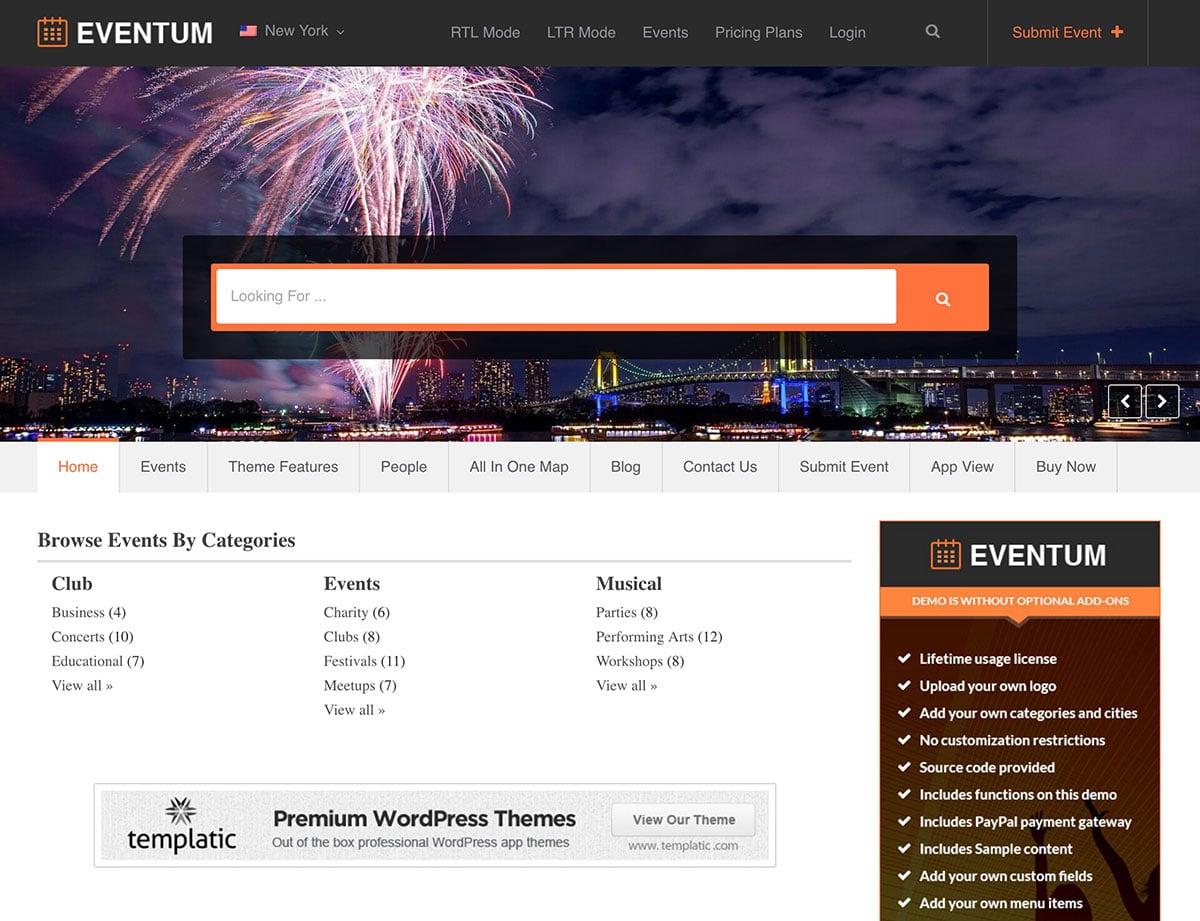 Eventum-1 - 46+ Stunning WordPress Directory Themes [year]