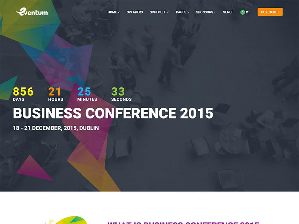 Eventum - 40+ Amazing WordPress Themes For Events [year]