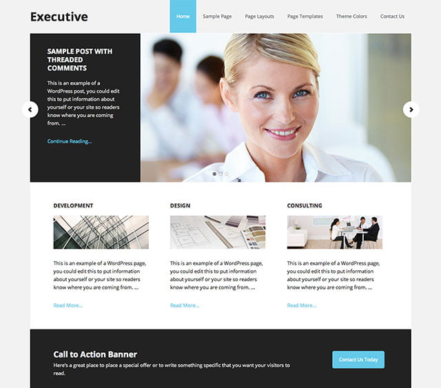 Executive-Pro - 60+ Nice WordPress Themes For Business [year]