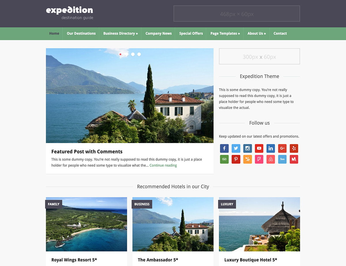 Expedition - 46+ Stunning WordPress Directory Themes [year]