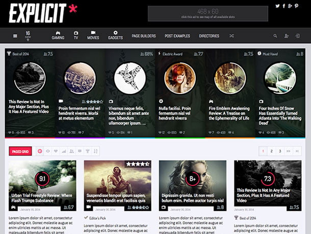 Explicit - 35+ Awesome WordPress Themes For Gaming [year]