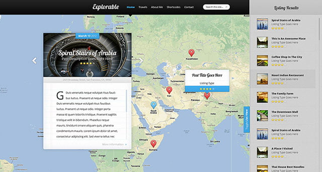 Explorable - 36+ Amazing Travel, Agencies, Hotels WordPress Themes [year]