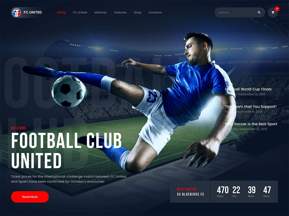 FC-United - 31+ Nice WordPress Themes For Sports [year]