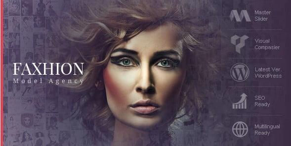 Faxhion - 36+ Nice WordPress Model Agency Themes [year]