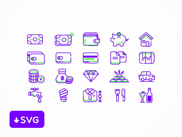 Finance-Icons-Set - 35+ Awesome Free E-Commerce Icon Sets [year]