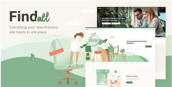FindAll - 46+ Stunning WordPress Directory Themes [year]