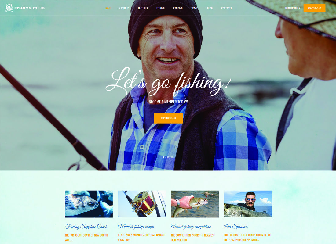 Fishing - 35+ Nice Hunting and Weapon For WordPress Themes [year]