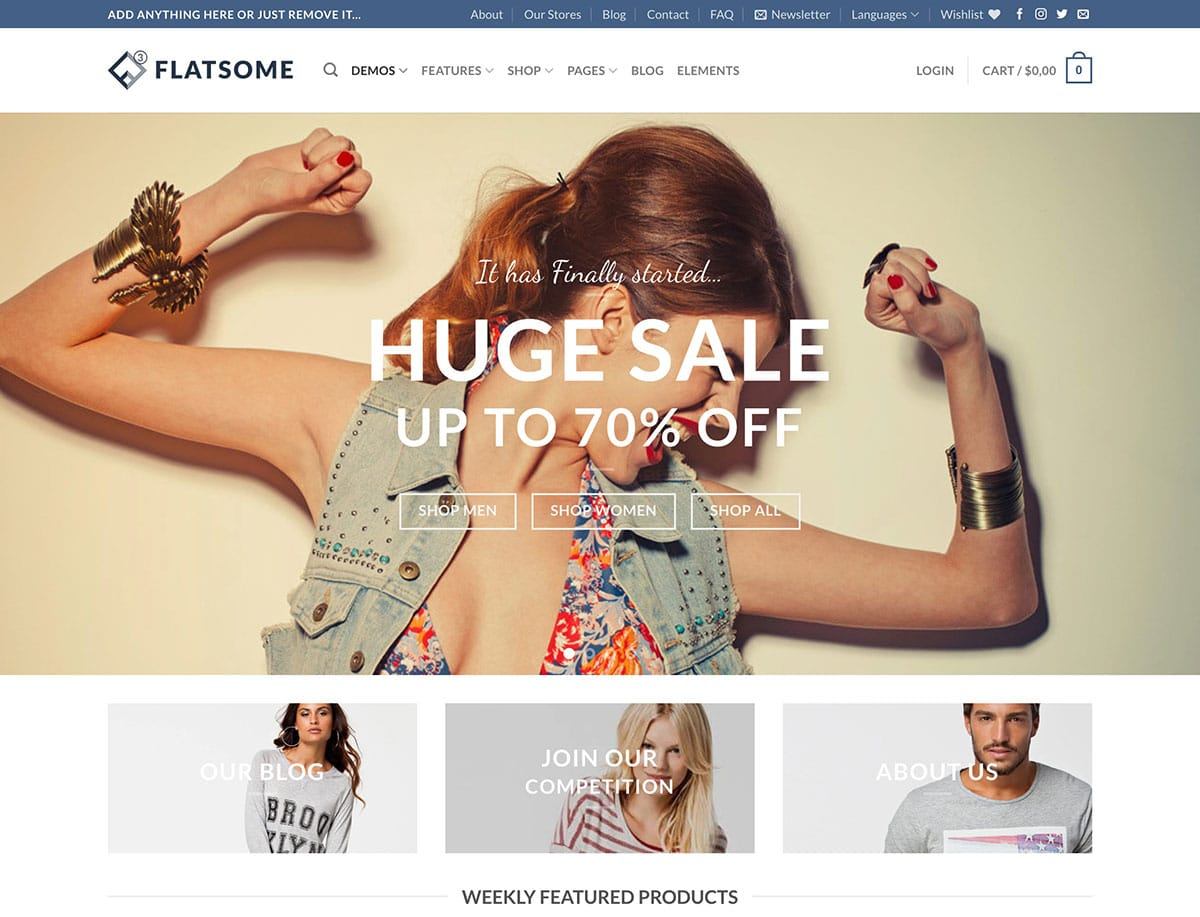 Flatsome - 41+ Top WordPress Themes For Woocommerce [year]
