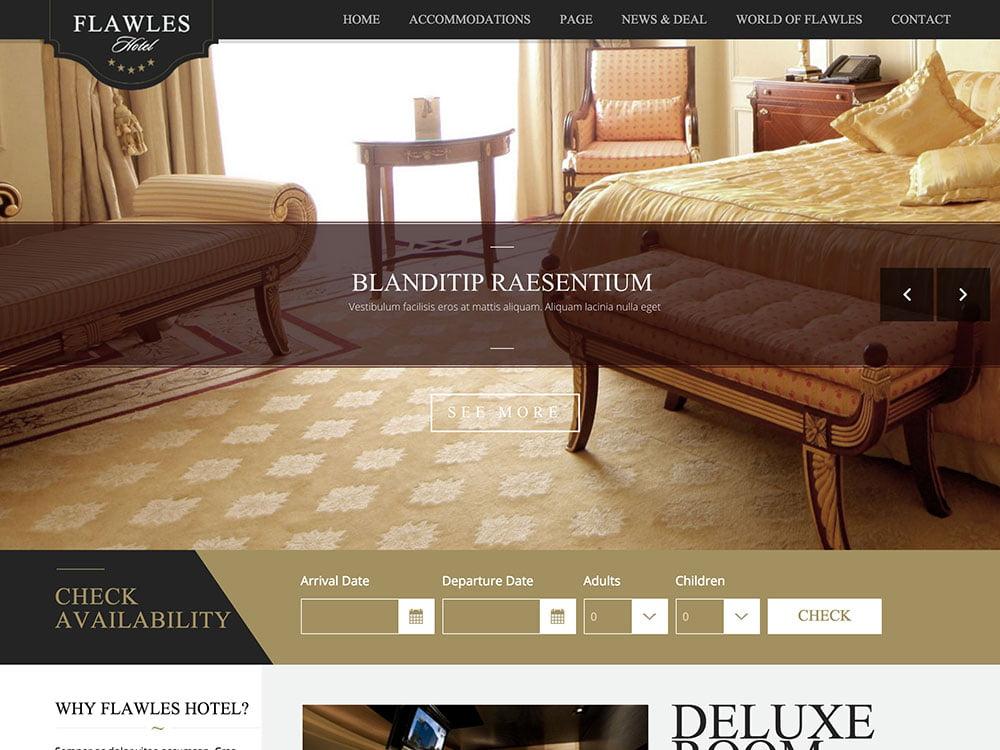 Flawleshotel - 36+ Amazing Travel, Agencies, Hotels WordPress Themes [year]
