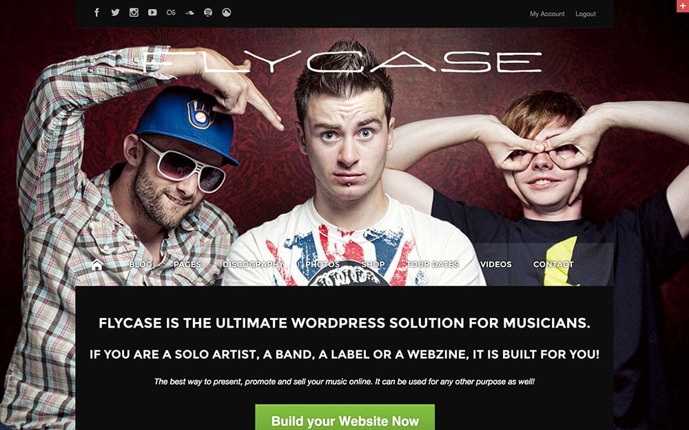 Flycase - 40+ Awesome WordPress Themes For Music [year]