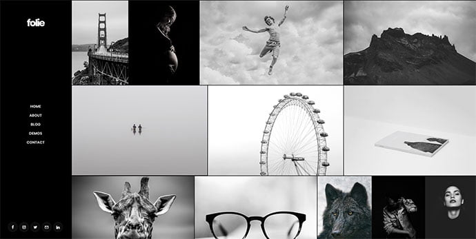 Folie - 31+ Nice WordPress Themes For Dark Photography Portfolio [year]