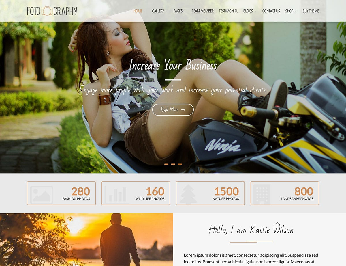 Fotography - 51+ Nice Free WordPress Themes For Photography [year]