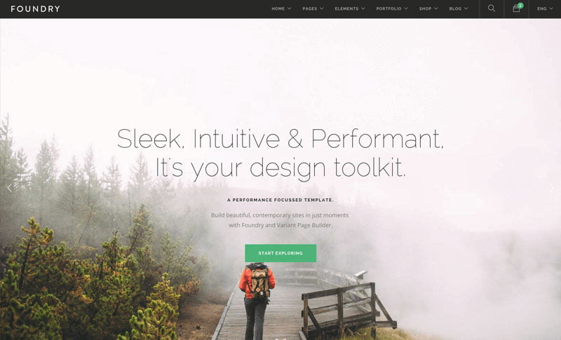 Foundry - 36+ Awesome WordPress Marketing Themes [year]