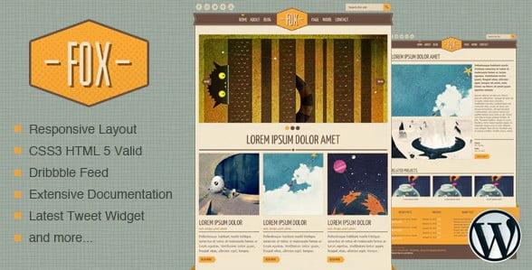 Fox - 36+ Best Quality Retro WordPress Themes [year]