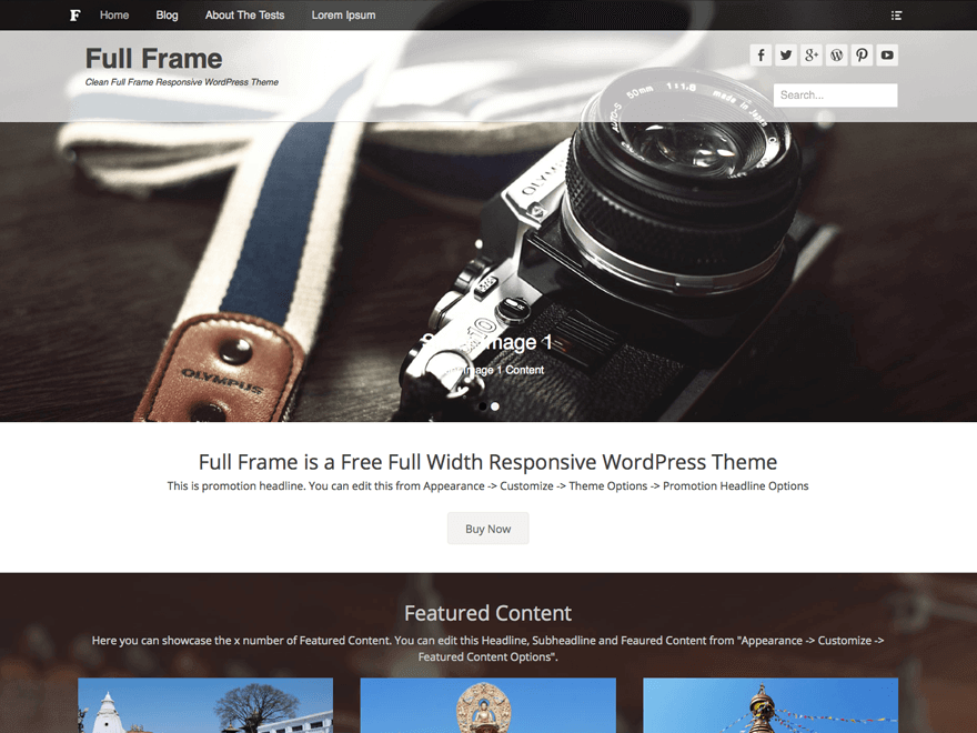 Full-Frame - 51+ Nice Free WordPress Themes For Photography [year]