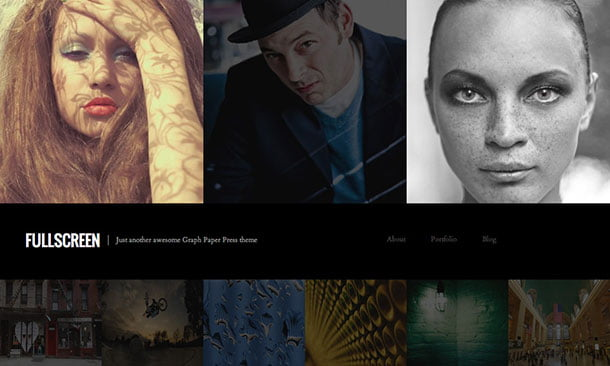 Fullscreen - 51+ Nice Free WordPress Themes For Photography [year]
