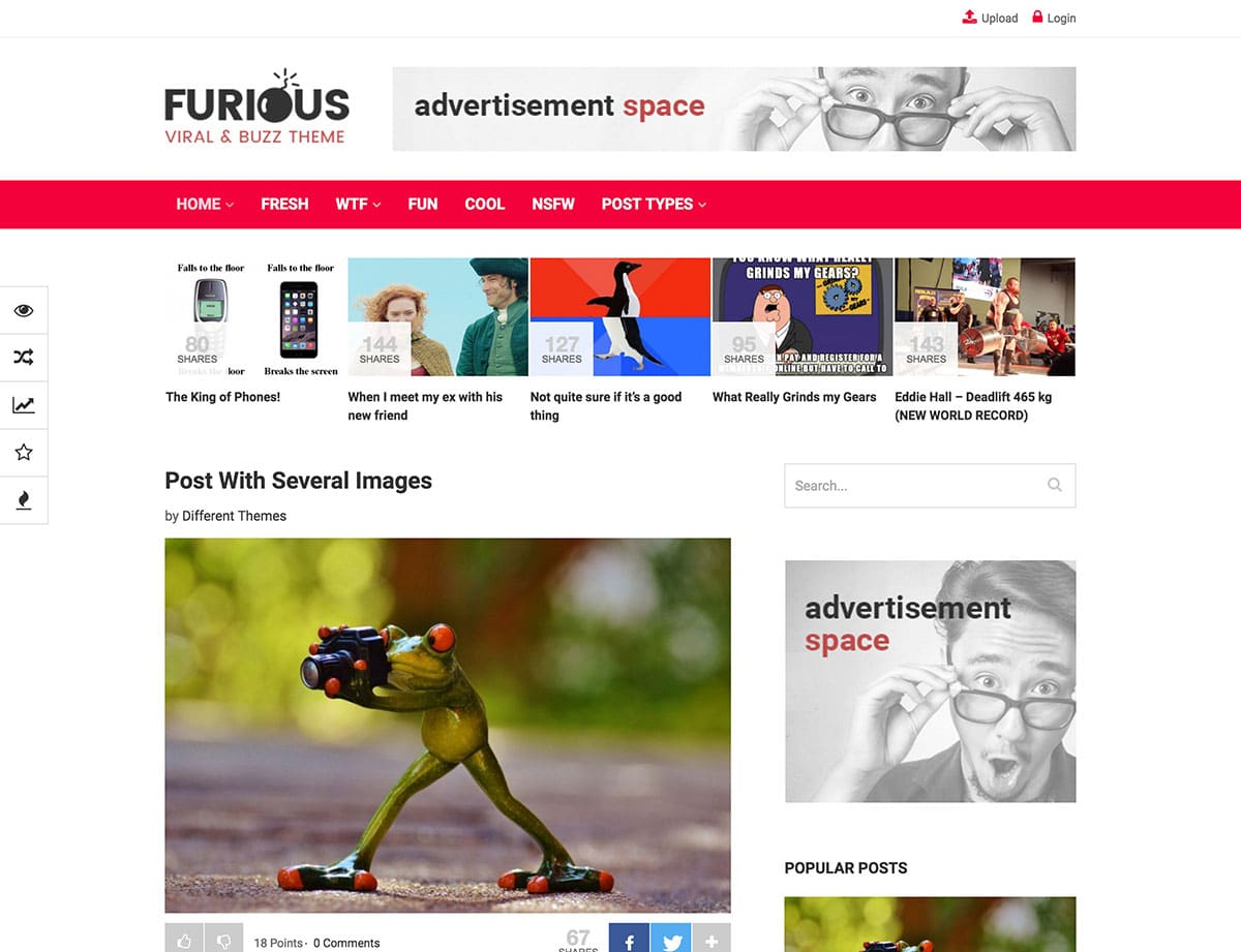 Furious - 30+ Top Quality WordPress Themes For Viral [year]