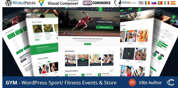 GYM - 36+ Nice WordPress Golf Themes For Golf Clubs Websites [year]