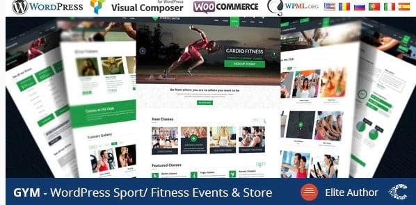 GYM - 36+ Nice WordPress Golf Themes For Golf Clubs Websites [year]