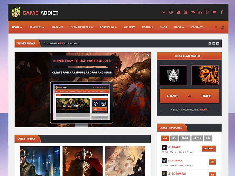Game-Addict - 35+ Awesome WordPress Themes For Gaming [year]