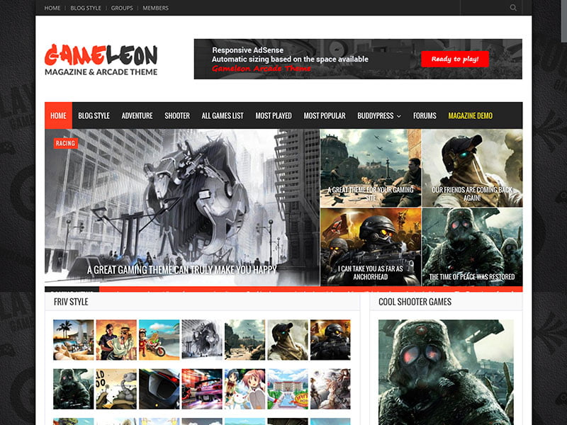 Gameleon-1 - 36+ Top Quality WordPress Gaming Themes [year]