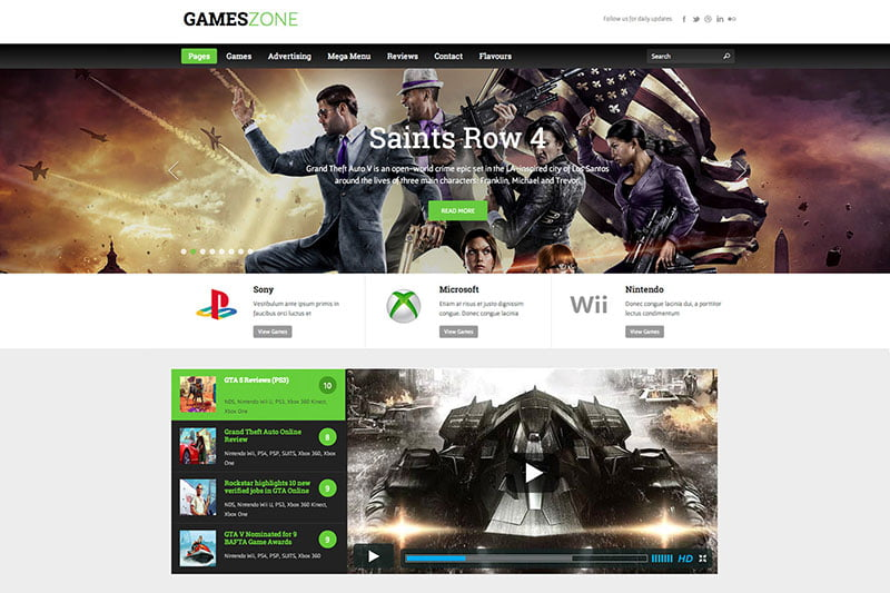 GamesZone-1 - 36+ Top Quality WordPress Gaming Themes [year]
