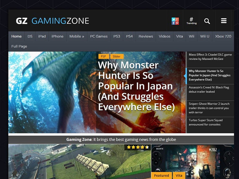 GamingZone-1 - 36+ Top Quality WordPress Gaming Themes [year]