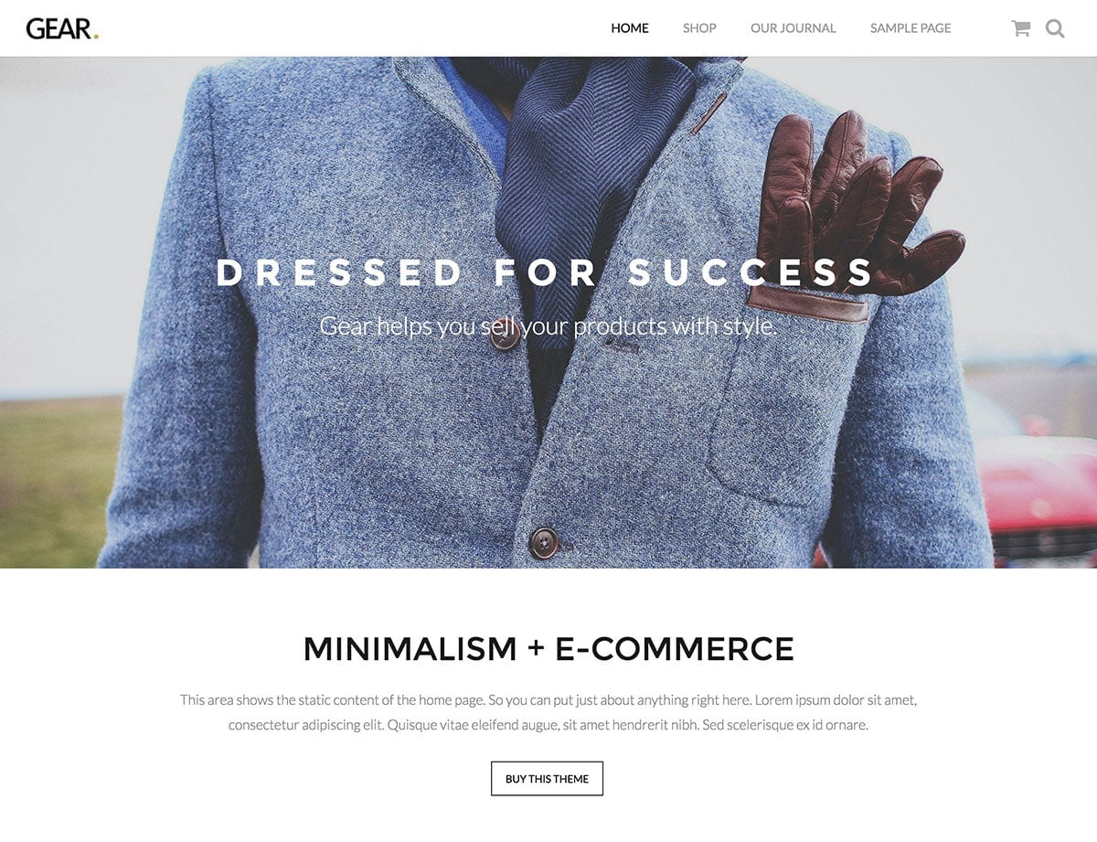 Gear - 36+ Top WordPress Themes For Ecommerce [year]