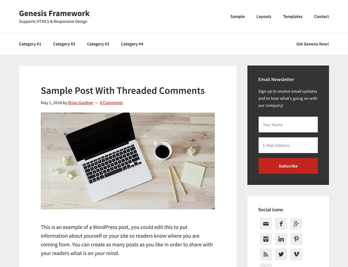 Genesis - 36+ Responsive WordPress SEO Friendly Themes [year]