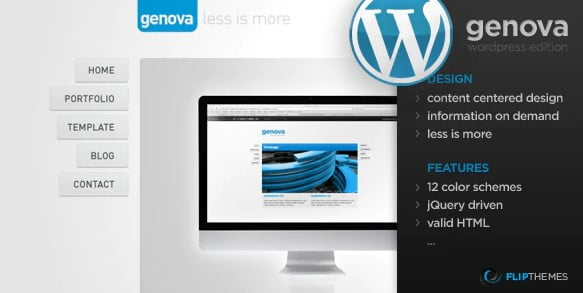 Genova - 36+ Awesome Minimalist WordPress Themes [year]