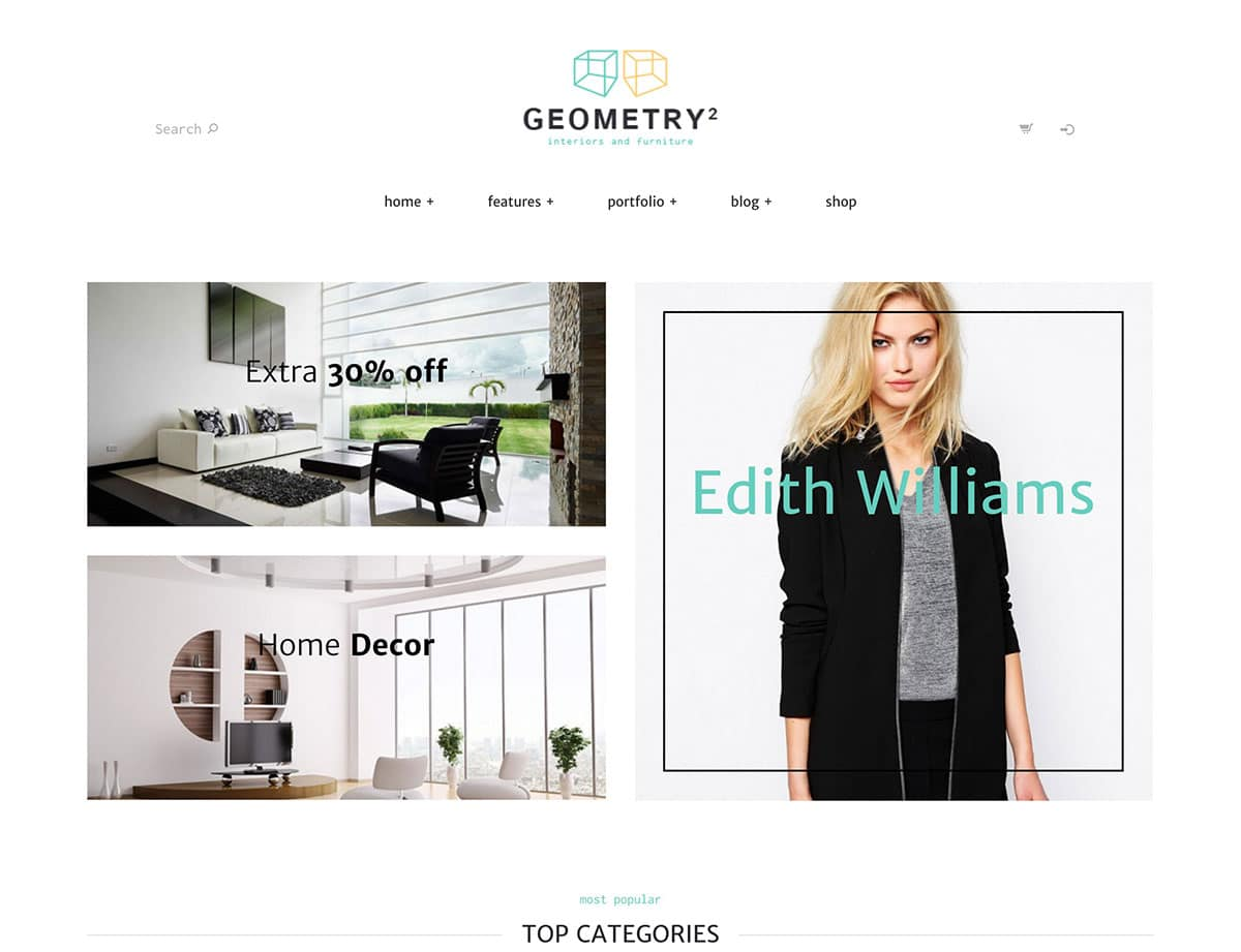Geometry-1 - 30+ Top Quality WordPress Themes For Interior Design [year]